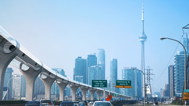 Toronto to Montreal in 39 minutes? Futuristic people mover zips to next stage